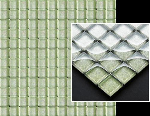Paradyż Uniwersalna Mozaika Szklana Verde Brokat
