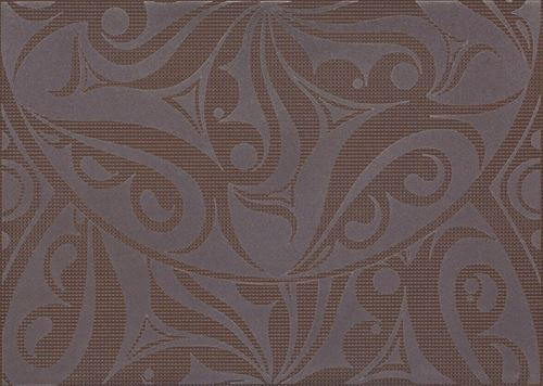 Cersanit Optica brown inserto circles WD240-007