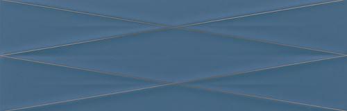 Cersanit Gravity marine blue silver inserto satin ND856-014