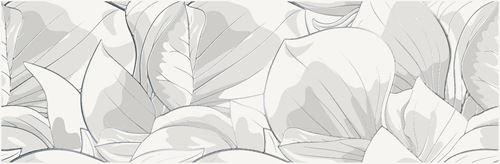 Opoczno Flower Cemento White Inserto OD486-006