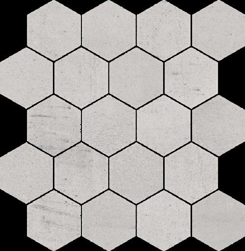 Paradyż Space Grys Mozaika Cięta Hexagon Mat.