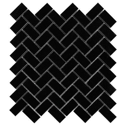 Dunin Black&White Pure Black Herringbone 48