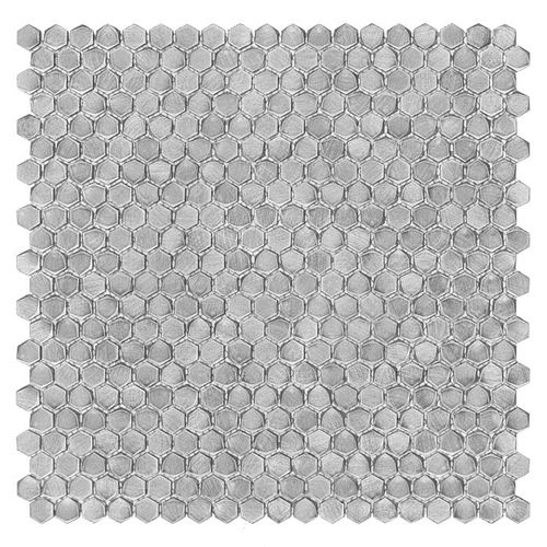 Dunin Metallic Allumi Silver Hexagon 14