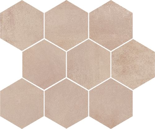 Opoczno Arlequini Mosaic Hexagon ND032-009