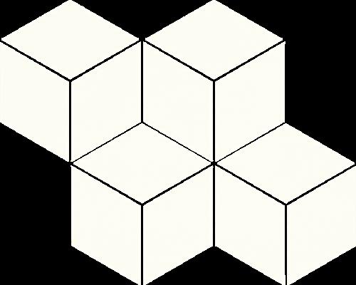 Paradyż Uniwersalna Mozaika Prasowana Bianco Paradyż Romb Hexagon