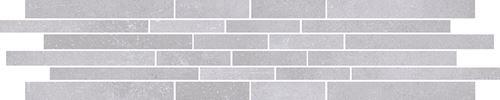 Cersanit Velvet Concrete white mosaic matt stripes rect ND1110-043