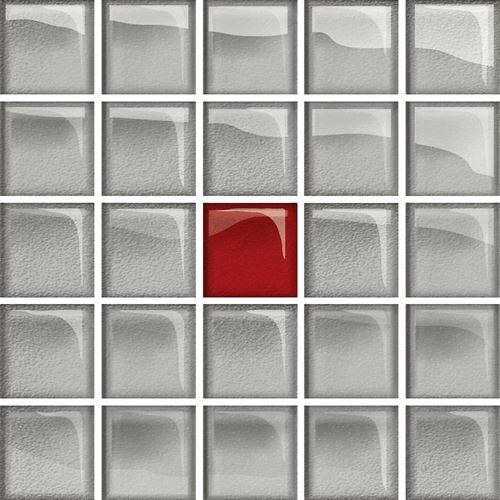 Opoczno Glass Silver/Red Mosaic A New OD660-120