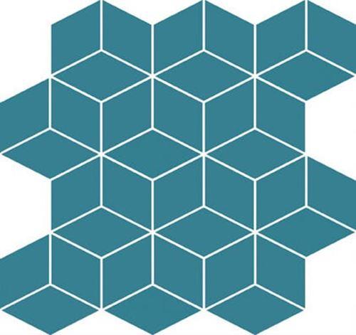 Cersanit Colour blink mosaic diamond turquoise WD567-007