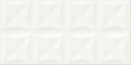 Opoczno Origami White Glossy Structure OP658-023-1