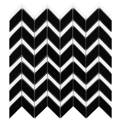 Dunin Black&White Pure Black Chevron mix