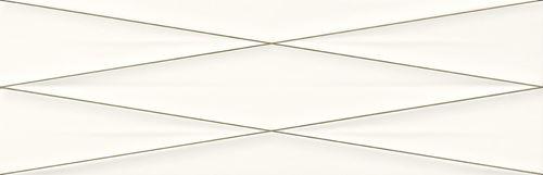 Cersanit Gravity white silver inserto satin ND856-013