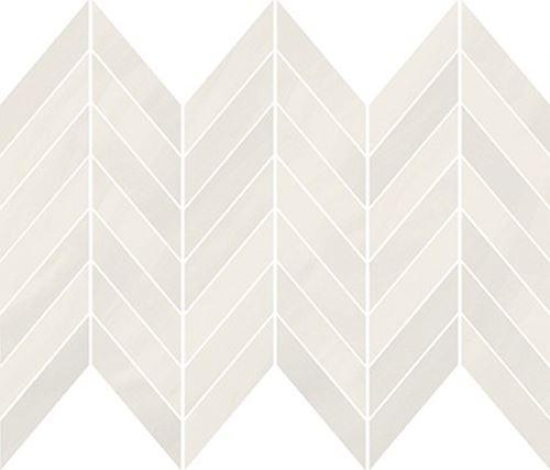 Cersanit Markuria white chevron mosaic matt WD1017-001