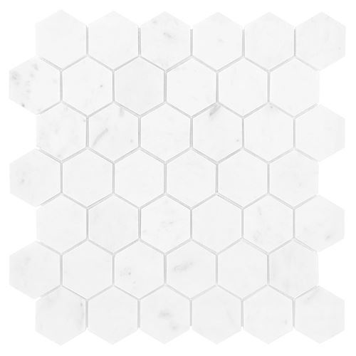 Dunin Black&White Carrara White Hexagon 48