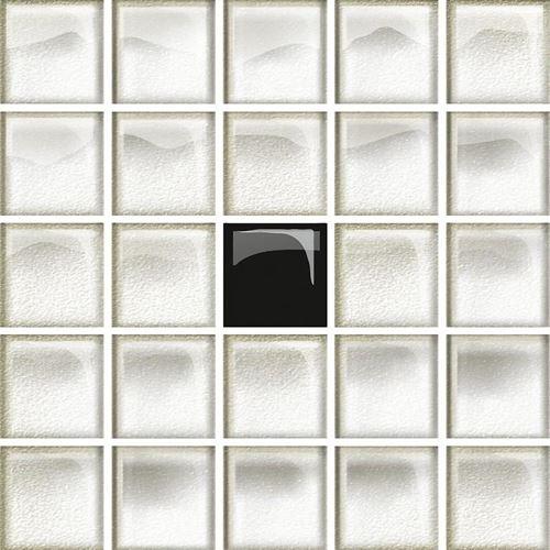 Opoczno Glass White/Black Mosaic A New OD660-116