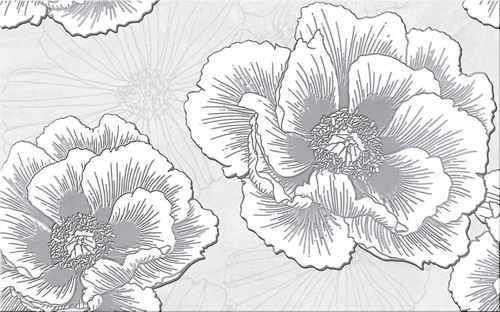 Cersanit Ferrata grey inserto flower WD953-005