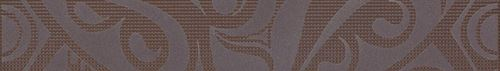 Cersanit Optica brown border circles WD240-011