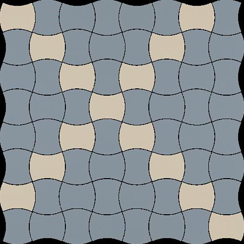 Paradyż Modernizm Blue Mozaika Prasowana K.3,6X4,4 Mix