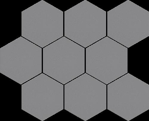 Cerrad Mozaika heksagon Cambia gris lappato 36743