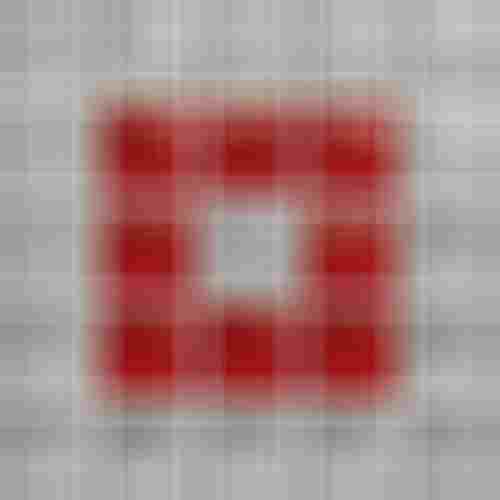 Opoczno Glass Silver/Red Mosaic B New OD660-121