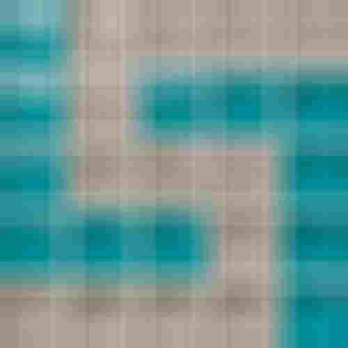 Opoczno Glass Azure/Dark Beige Mosaic D New OD660-131