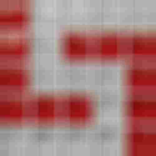 Opoczno Glass Glass Silver/Red Mosaic D New OD660-123