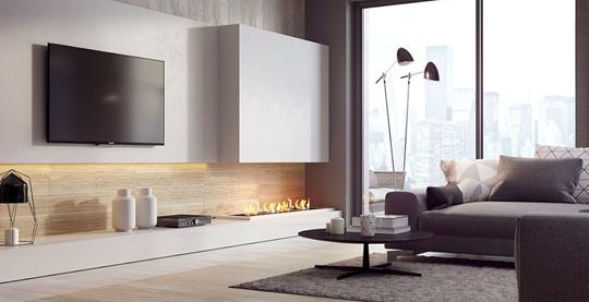 Pomysły na ścianę z telewizorem