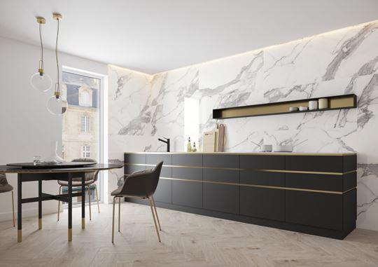 Marmur w kuchni - pomysły na aranżację