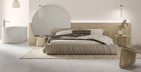 Beżowa sypialnia - pomysł na aranżację