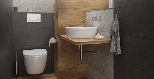 Aranżacja małej toalety - gotowe pomysły