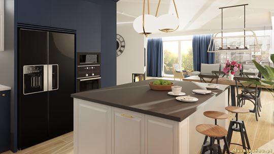 Projektowanie kuchni otwartej na salon z wyspą