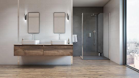 Łazienka w jasnych kolorach