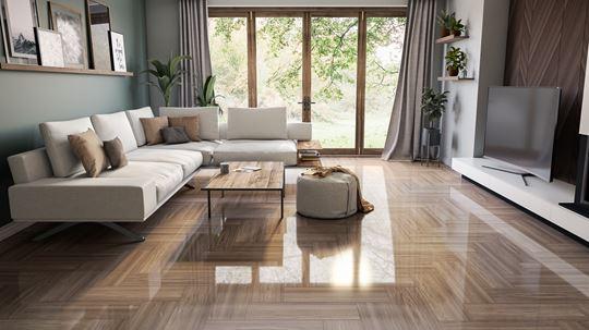 Drewnopodobne płytki z połyskiem - kolekcja Soho