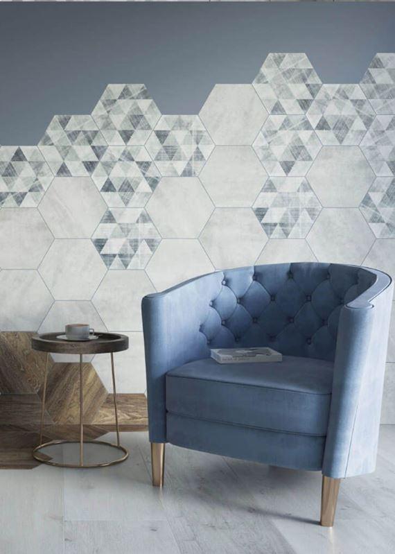Heksagony - pomysł na wnętrze