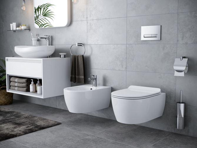 Podwieszana miska WC i bidet marki Excellent w kolekcji Doto