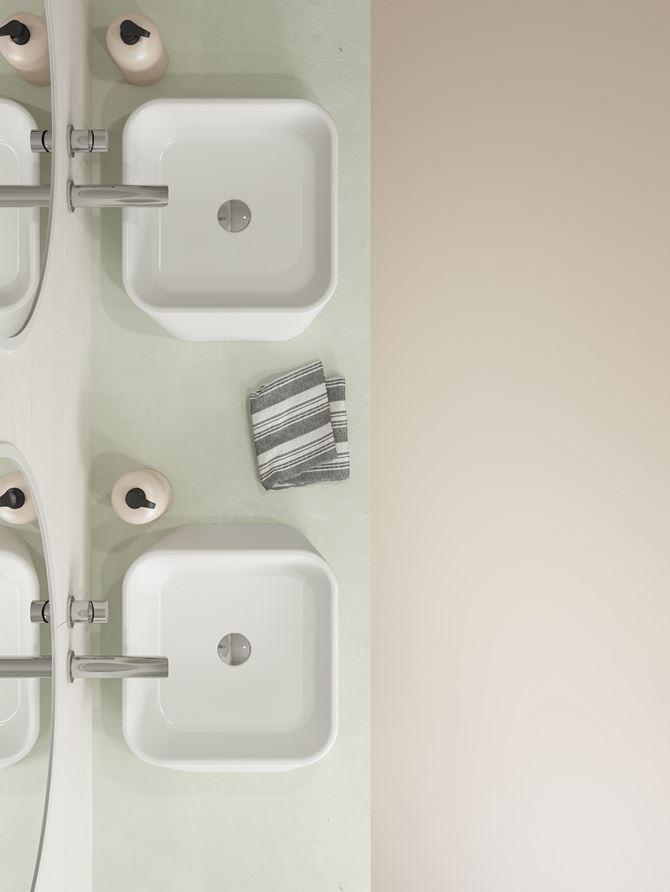 Białe umywalkai stawiane na blat kolekcja Bocchi Firenze