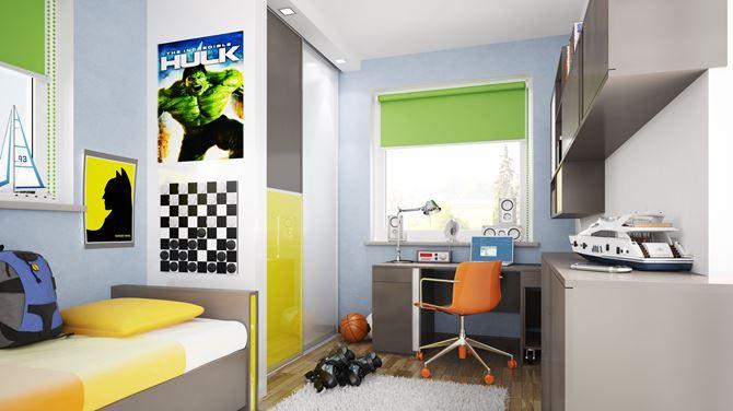 Kolorowy pokój aktywnego chłopca
