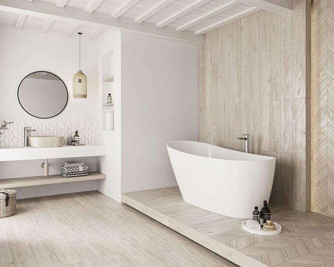 Przestronna łazienka w klimacie skandynawskim
