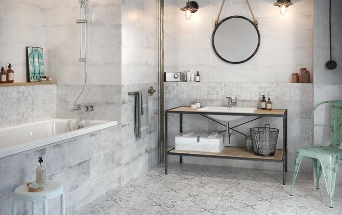Beton w łazience - Cersanit Concrete Style