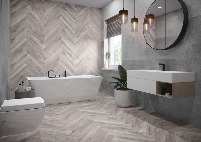 Jasna łazienka w minimalistycznym stylu