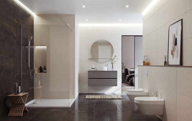 Nowoczesna łazienka w minimalistycznym stylu