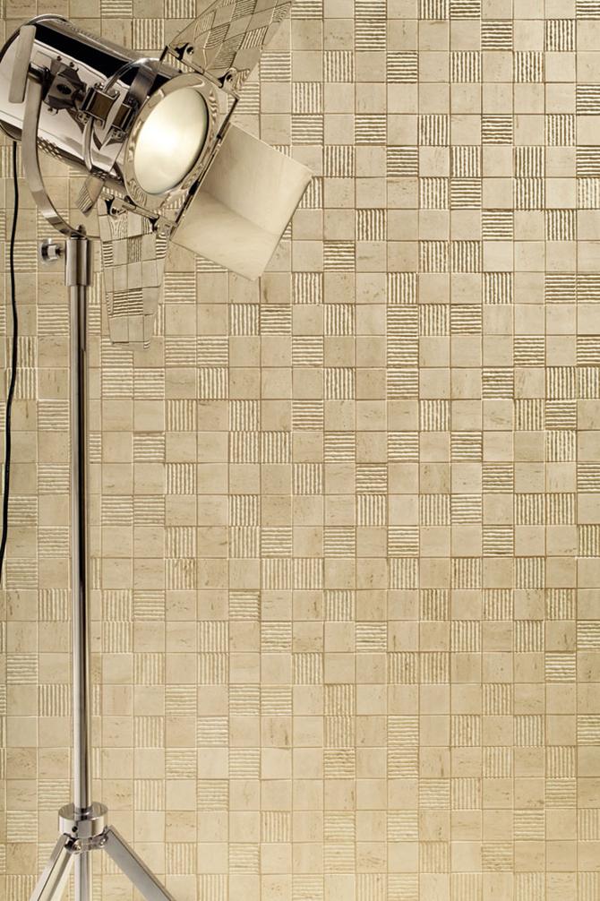Mozaikowa ściana Tubądzin Travertine