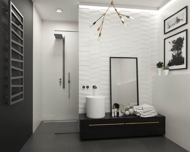 Nowoczesna łazienka w bieli Paradyż Tel Awiv