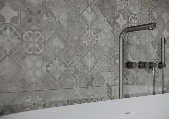 Cerrad Softcement graphite patchwork - Detal
