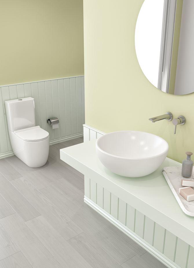 Klasyczna łazienka z ceramiką stojącą