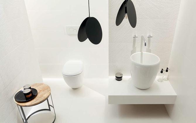 Biała łazienka Tubądzin Unit Plus
