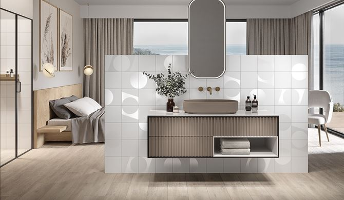 Sypialnia glamour z łazienką