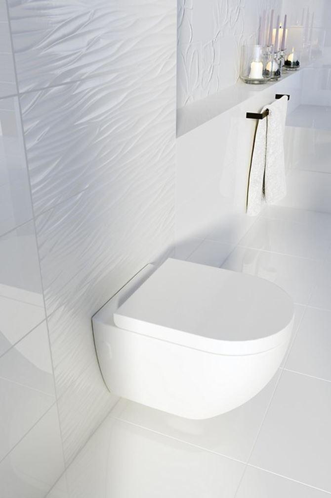 Toaleta z płytkami Structure pattern