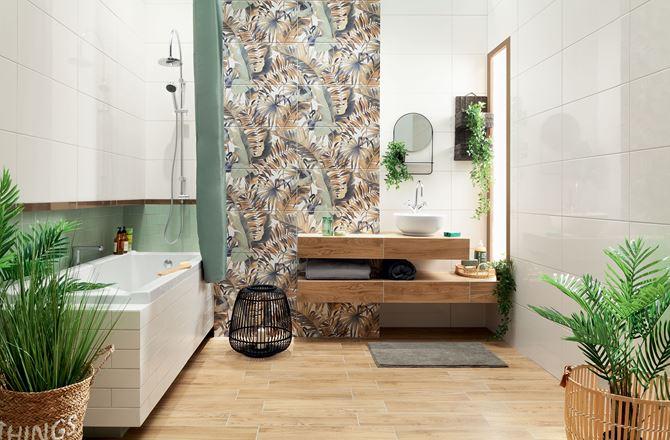 Aranżacja łazienki z naturą w tle
