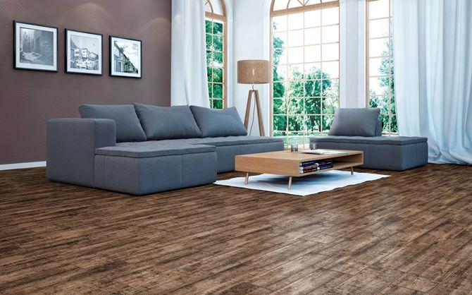 Elegancki salon wykończony drewnem Cerrad Celtis