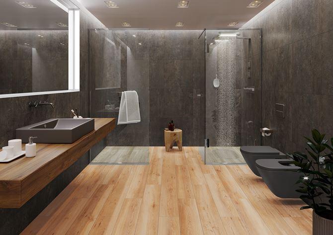 Nowoczesna łazienka Azario Tinware w kolorze wenge